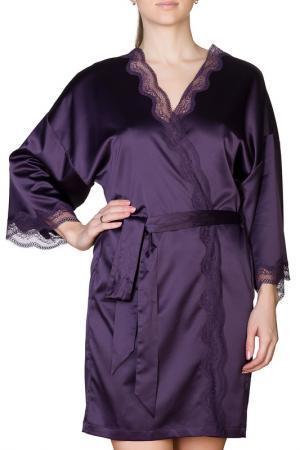 Халат Rose&Petal Homewear. Цвет: фиолетовый