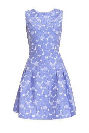 Платье из искусственного шелка 156763 Cavo. Цвет: синий