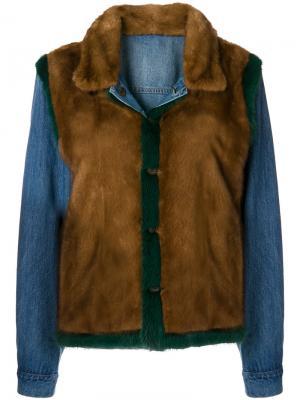 Джинсовая куртка Simonetta Ravizza. Цвет: коричневый