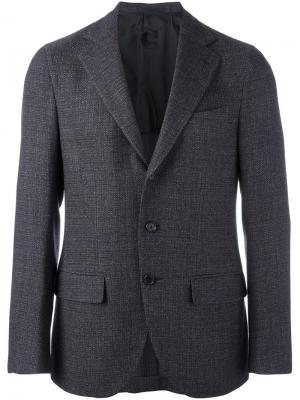 Пиджак с застежкой на две пуговицы Caruso. Цвет: коричневый