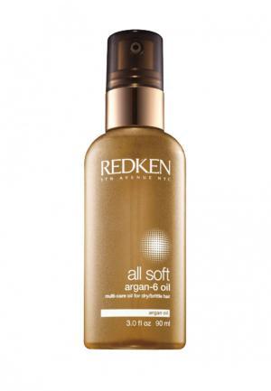 Масло All Soft Argan-6 Oil Redken. Цвет: золотой