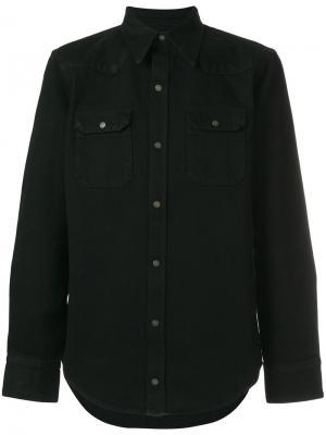Джинсовая рубашка Calvin Klein 205W39nyc. Цвет: чёрный