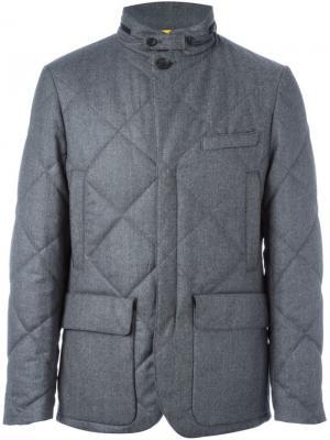 Стеганый пиджак Canali. Цвет: серый