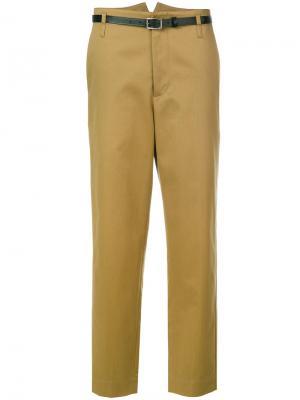 Брюки чинос Golden Goose Deluxe Brand. Цвет: коричневый