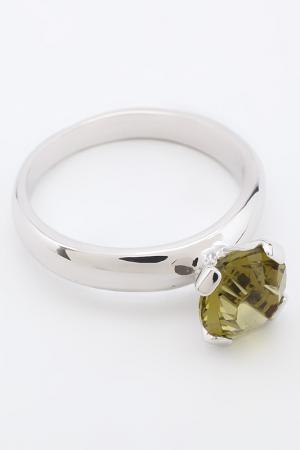 Кольцо Бриллиант Crocus-Elite. Цвет: зеленый