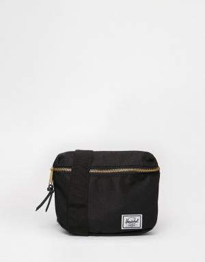 Herschel Supply Co Черная сумка-кошелек на пояс Fiffteen. Цвет: черный