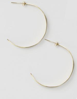 Made Серьги-кольца с листочками. Цвет: золотой