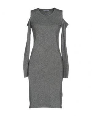 Платье до колена DANIELA FARGION. Цвет: серый