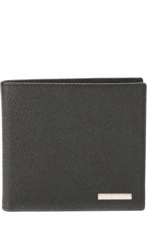 Кожаное портмоне с отделением для кредитных карт Ermenegildo Zegna. Цвет: черный