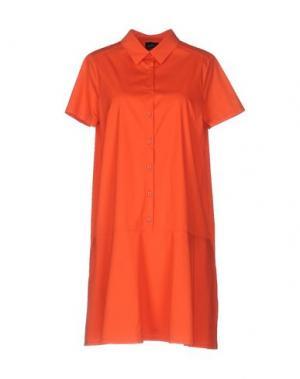 Короткое платье GOTHA. Цвет: оранжевый