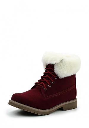 Ботинки Betsy. Цвет: бордовый