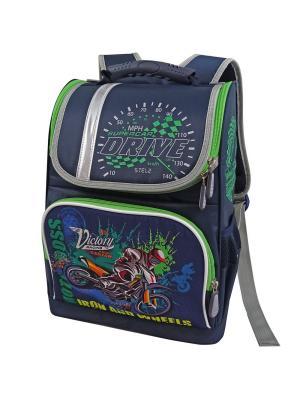 Ранец ученический Stelz. Цвет: темно-синий, зеленый, синий