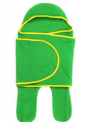 Комбинезон (в виде конверта) Mum`s Era. Цвет: светло-зеленый,желтый