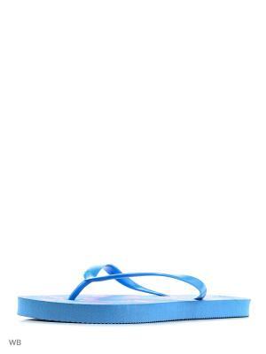 Шлепанцы Modis. Цвет: голубой, розовый