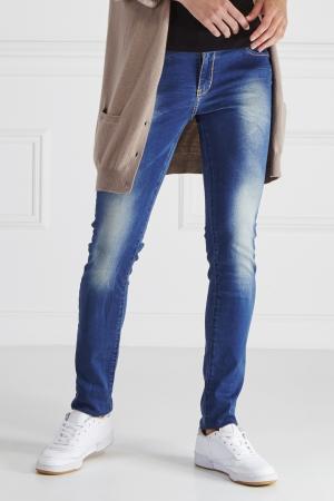 Комбинированные джинсы Yes London. Цвет: синий