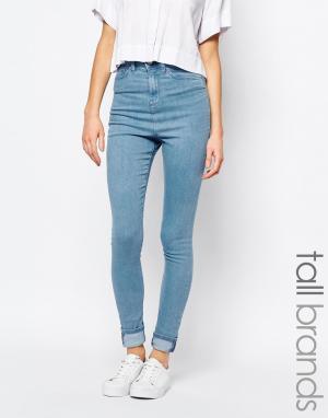 Waven Tall Укороченные джинсы скинни Freya. Цвет: синий