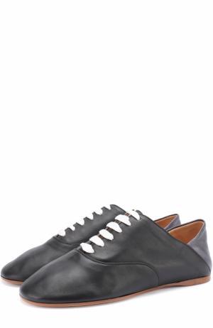 Кожаные ботинки с мягким задником Acne Studios. Цвет: черный