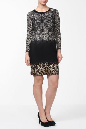 Платье Alkis. Цвет: черный, бежевый