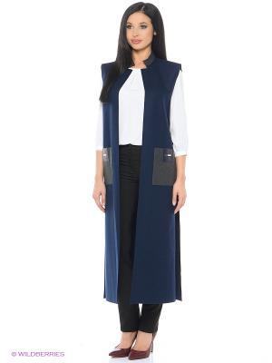 Жилет-пальто Xenia Dukova. Цвет: серый, синий
