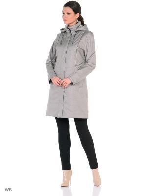 Пальто NINA Maritta. Цвет: серо-коричневый