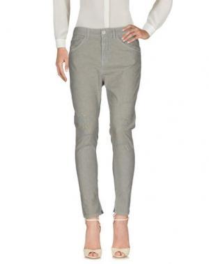 Повседневные брюки MANILA GRACE DENIM. Цвет: серый