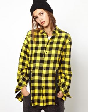 Рубашка с молнией BACK by Ann-Sofie Ann Sofie. Цвет: желтый