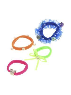 Резинка для волос - 4 шт. Olere. Цвет: розовый, белый, зеленый, оранжевый, синий