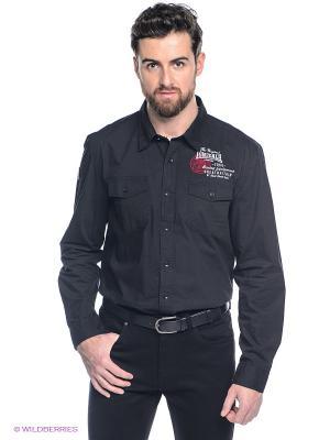 Рубашка Lonsdale. Цвет: черный