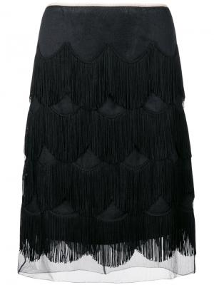 Frilled skirt Marc Jacobs. Цвет: чёрный