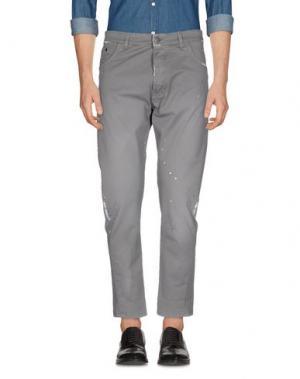 Повседневные брюки YES LONDON. Цвет: серый