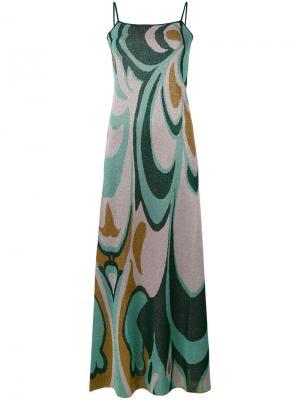 Платье с абстрактным узором Circus Hotel. Цвет: зелёный