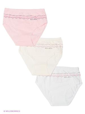 Трусы, 3 шт BAYKAR. Цвет: бледно-розовый, кремовый, белый