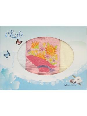 Набор полотенец с вышивкой Шляпка 3 шт (30*50). Dorothy's Нome. Цвет: светло-голубой,бежевый,бледно-розовый
