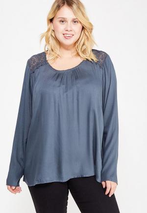 Блуза Junarose. Цвет: серый