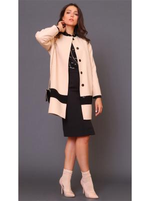 Пальто MARI VERA. Цвет: кремовый