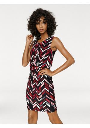 Моделирующее платье Ashley Brooke. Цвет: цветной