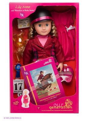 Кукла делюкс Лили Анна Приключения на конюшнях Шелби OG Dolls. Цвет: бордовый