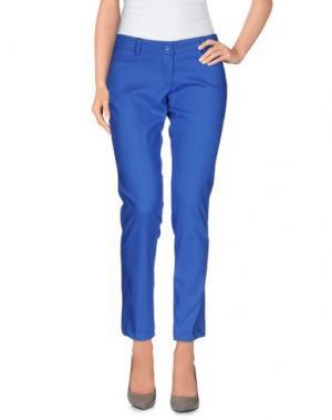 Повседневные брюки LA KORE. Цвет: лазурный