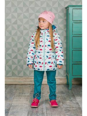 Куртка Sweet Berry. Цвет: бирюзовый
