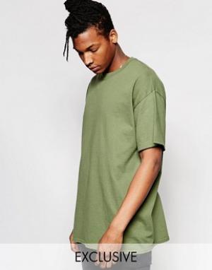 Reclaimed Vintage Oversize-футболка. Цвет: зеленый
