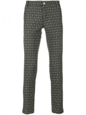 Тканые брюки прямого кроя Entre Amis. Цвет: зелёный