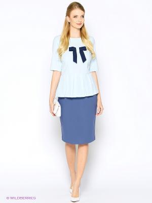 Блузка ARBOR VITAE. Цвет: голубой