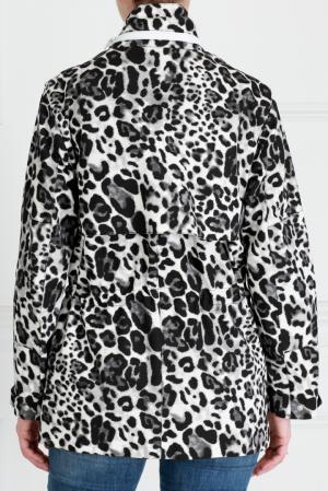 Хлопковая куртка Sandro. Цвет: черно-белый