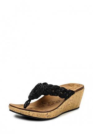 Сабо Skechers. Цвет: черный