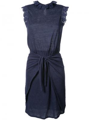 Платье с резинкой на талии Rebecca Taylor. Цвет: синий