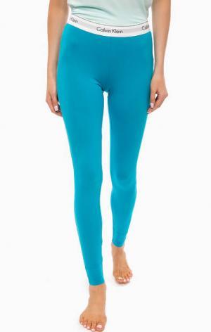 Голубые домашние леггинсы Calvin Klein Underwear. Цвет: голубой