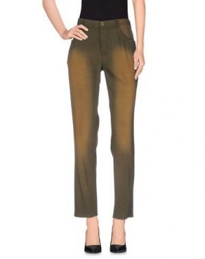 Повседневные брюки THEYSKENS' THEORY. Цвет: зеленый-милитари