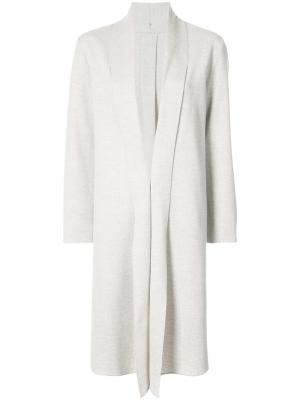 Пальто без застежки Peter Cohen. Цвет: телесный