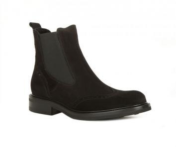 Простые черные замшевые ботинки с высоким голенищем от Berto Giantin