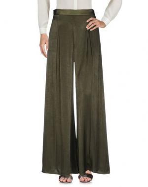 Повседневные брюки FACE TO. Цвет: зеленый-милитари